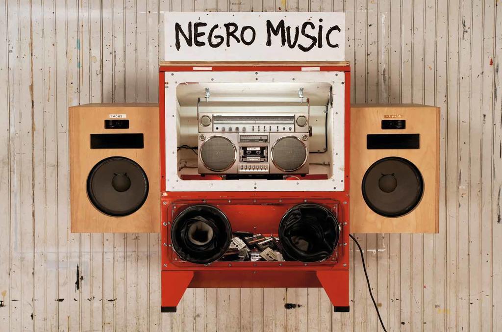 Negro Music, 2006, mixed meida, 156.2 X 52.7 X 104.8 cm