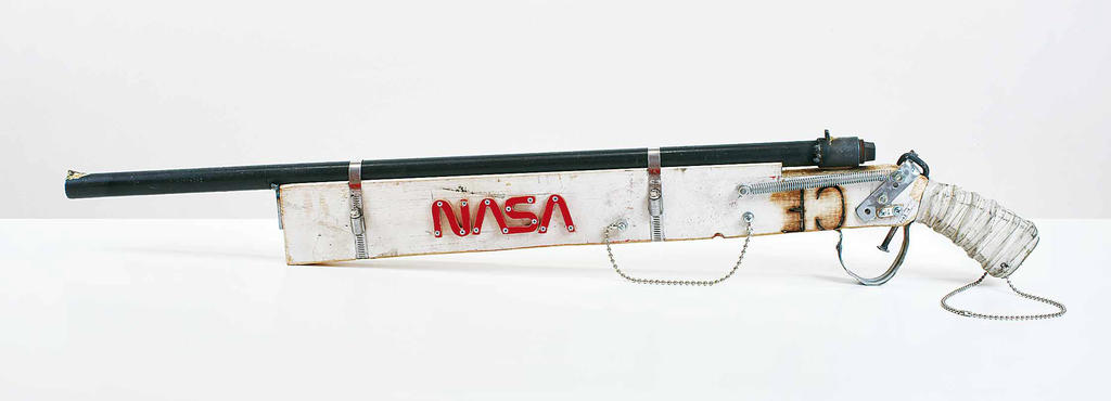 Lem: ATF: MSA: Shotgun, 12 Guage, Breech-Loading, Handmade 2007 mixed media 4 x 41 x 1.5 inches
