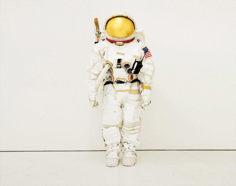 Space Suit 2007 tyvek, cotton, polyester, plywood, thermal adhesive, electronics  63 x 57 in
